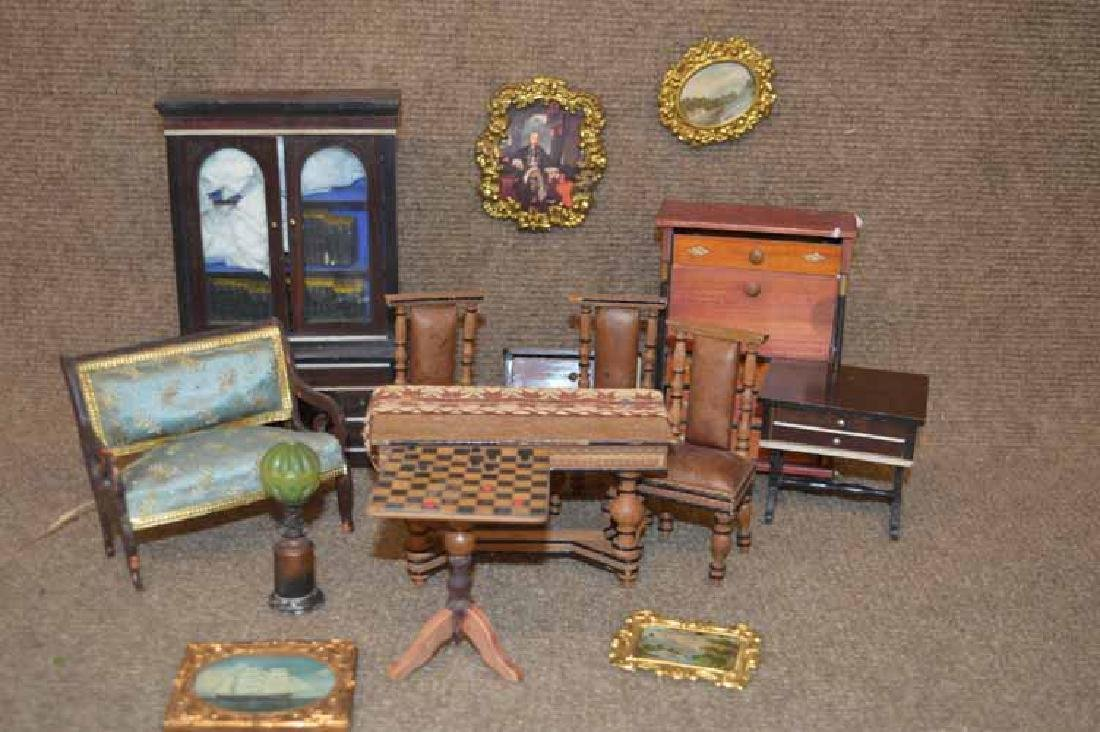 Box Lot of Doll Hosue Furniture