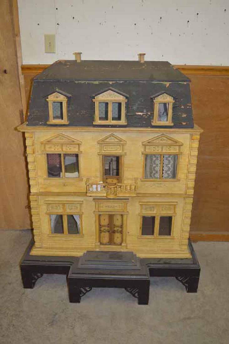 Mansard 3 Story Wooden Doll House
