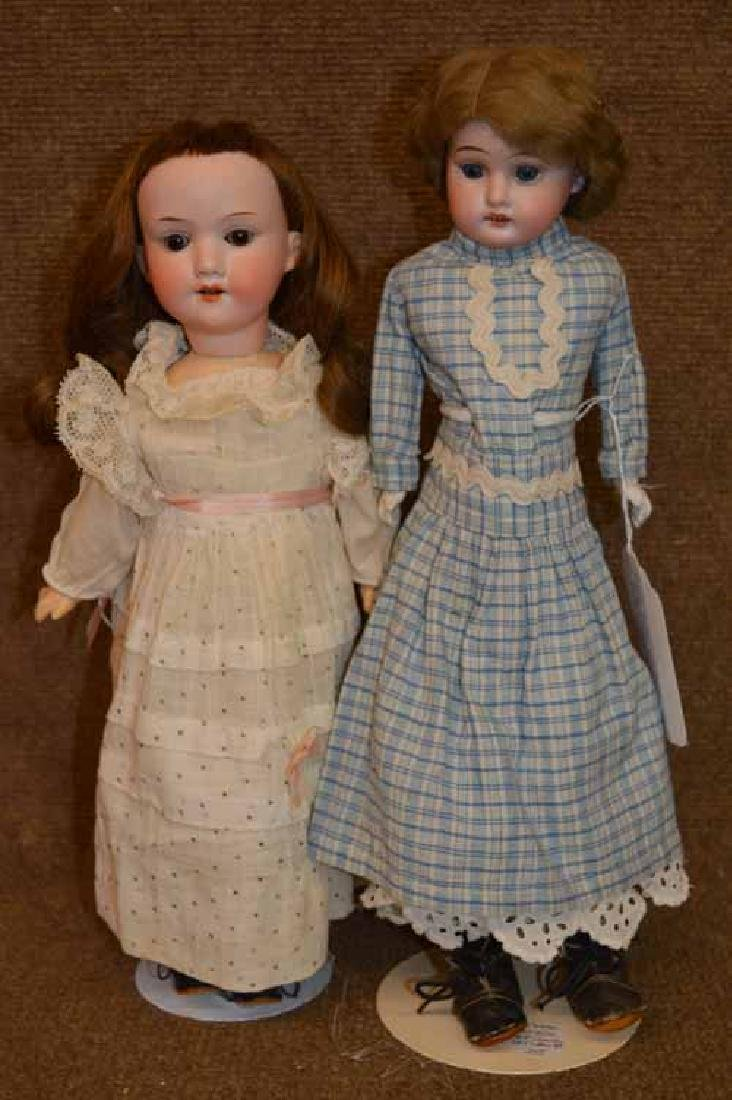 (2) A M Bisque Dolls
