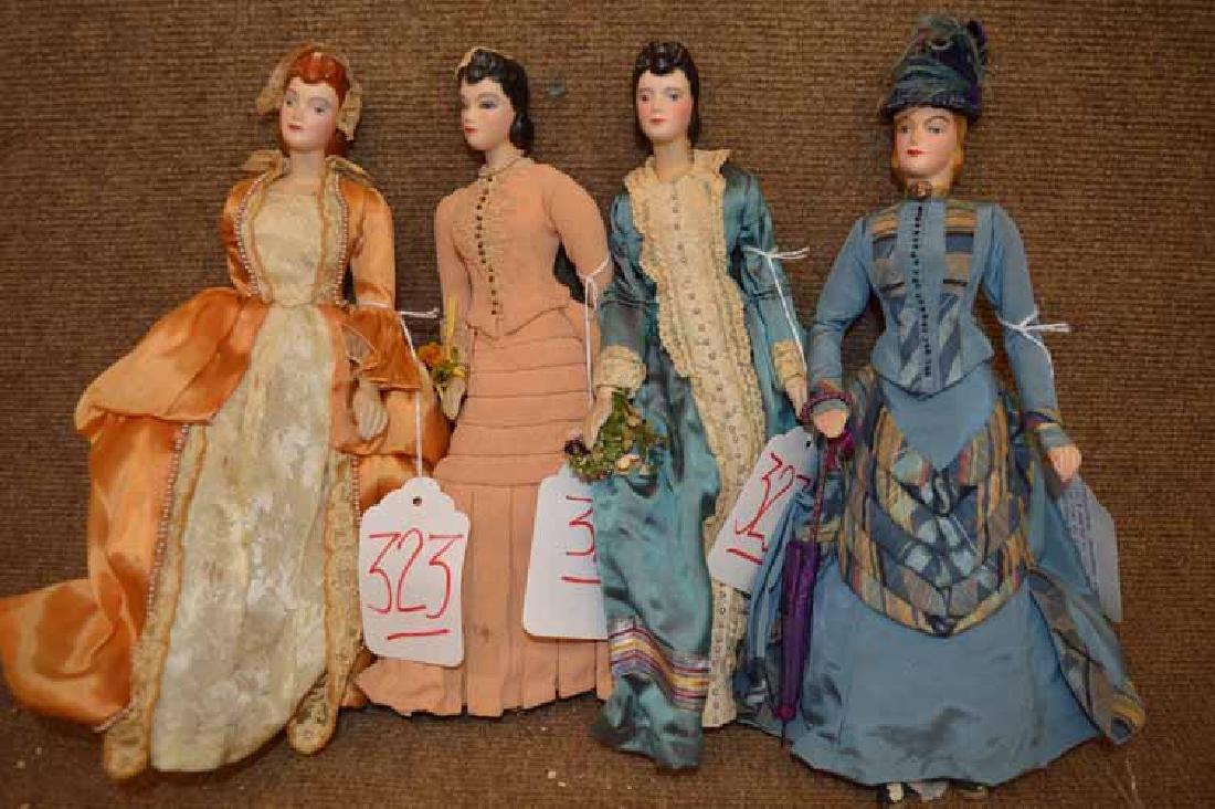 Grp of (4) Fashion Mannequin Dolls