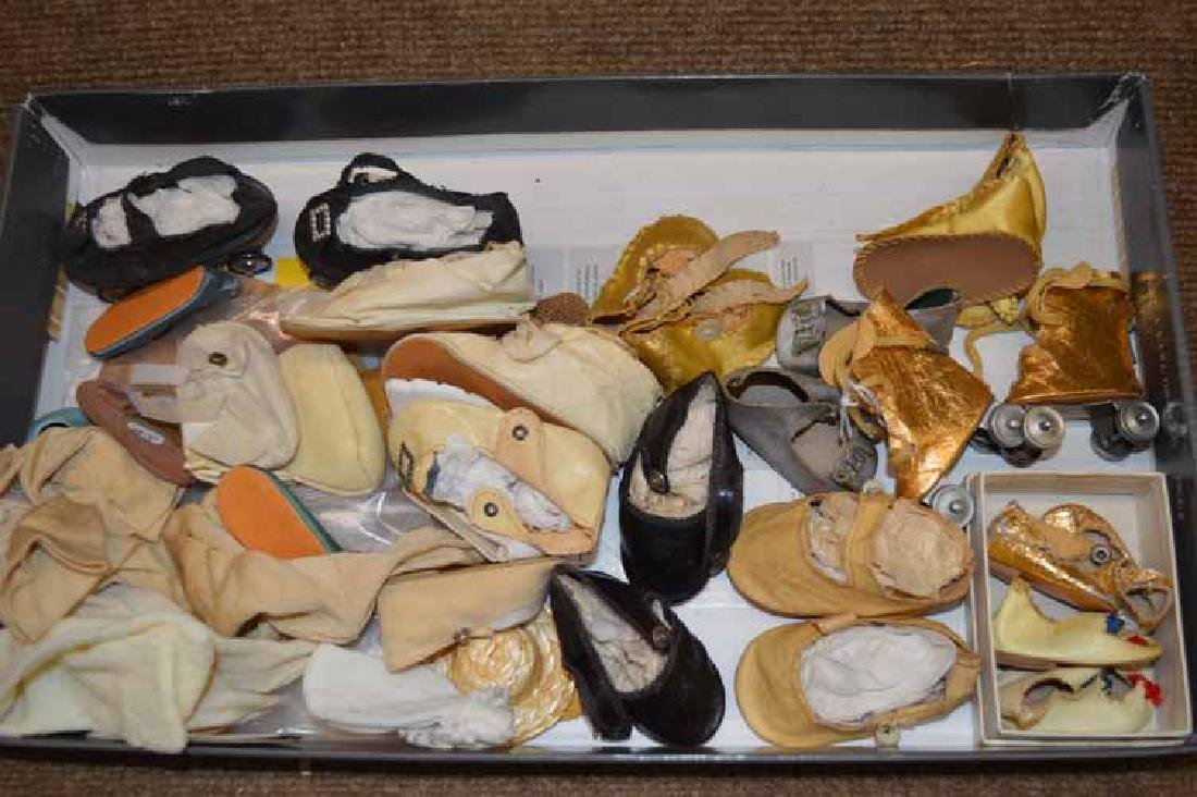 Box lot Vintage Doll Shoes & Socks
