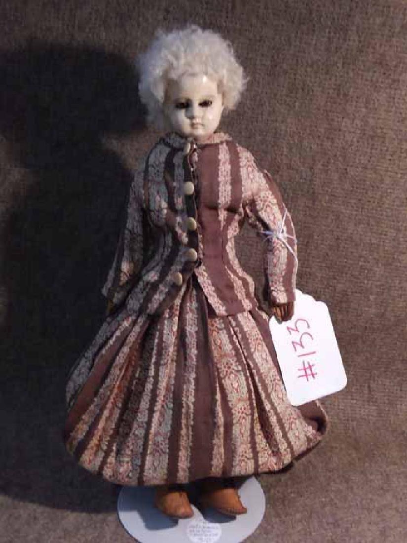 Papier Mache Shoulderhead Doll