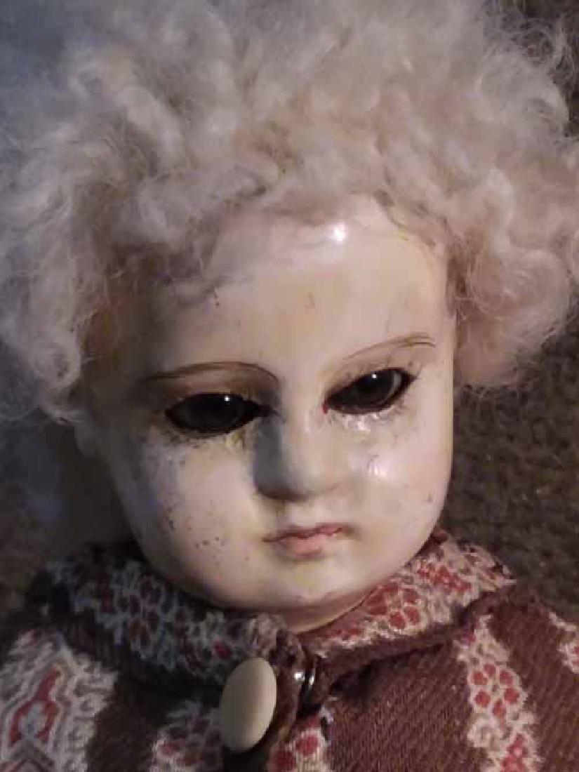 Papier Mache Shoulderhead Doll - 2