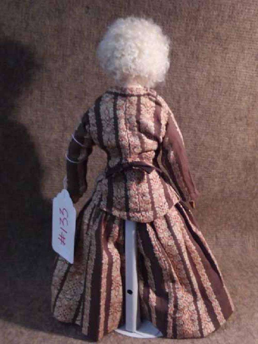 Papier Mache Shoulderhead Doll - 3