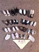 (14) Antique & Vintage Doll Shoes