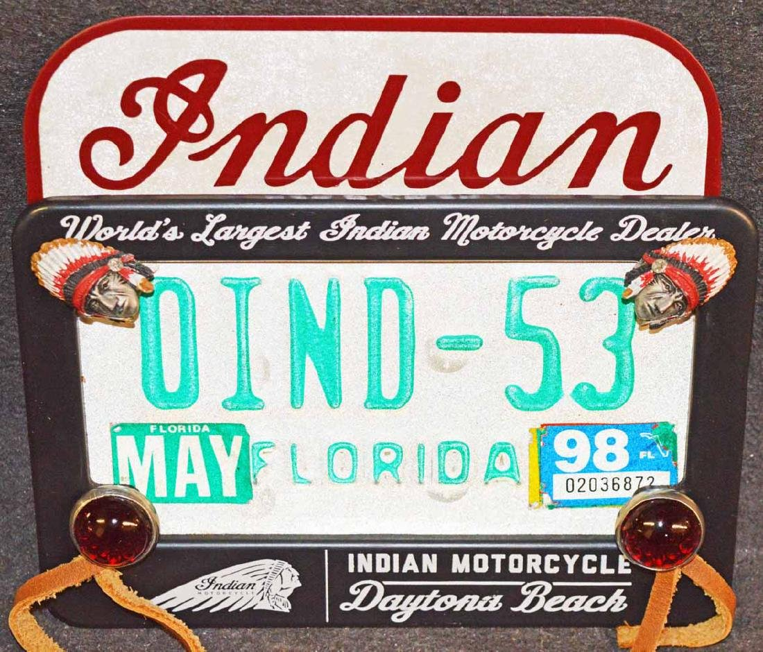 INDIAN MOTORCYCLE LICENSE PLATE SURROUND