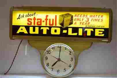 AUTO LIGHT STA-FUL LIGHT UP CLOCK