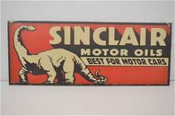 SINCLAIR MOTOR OIL STEEL SIGN