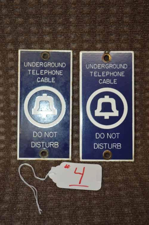 BELL TELEPHONE  CABLE SIGNS