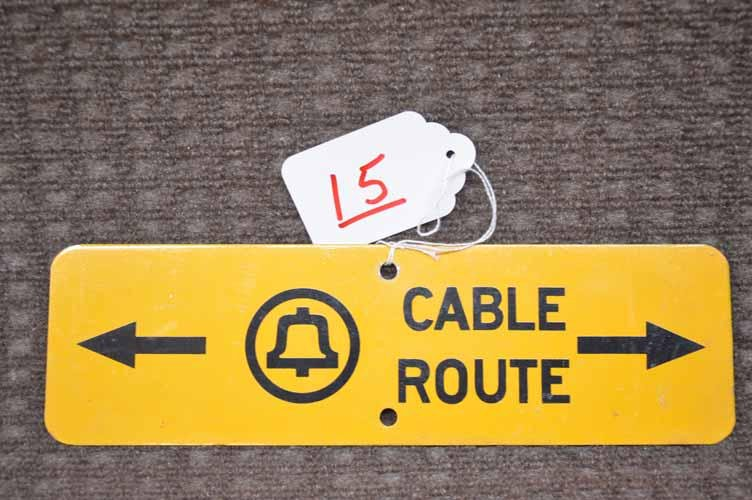 BELL TELEPHONE CABLE SIGN