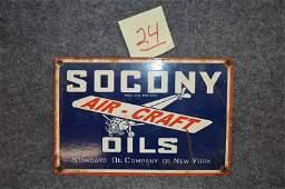 PORC  SOCONY AIR CRAFT OIL PUMP SIGN