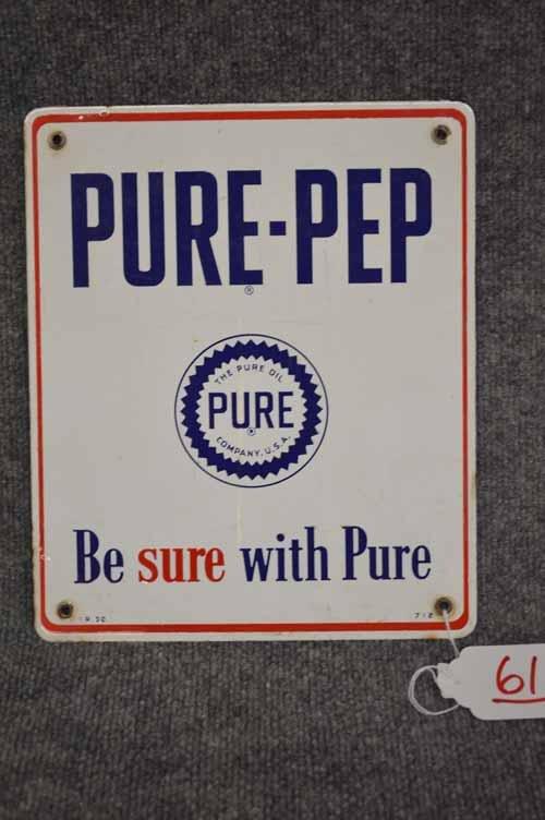 PURE-PEP PORCELAIN SIGN