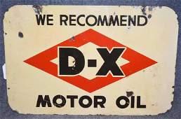 DX MOTOR OIL SIGN