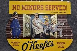 OKEEFES BEER SIGN