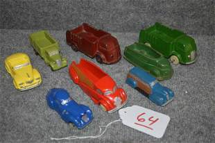(9) AUBURN & SUN TOY VEHICLES