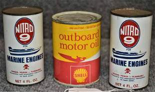 (3) OIL CANS