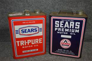 (2) SEARS OIL CANS