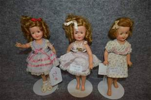 (3) IDEAL SHIRLEY TEMPLE DOLLS