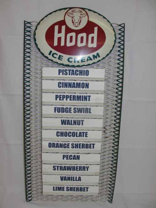 2: Hood Ice Cream Menu