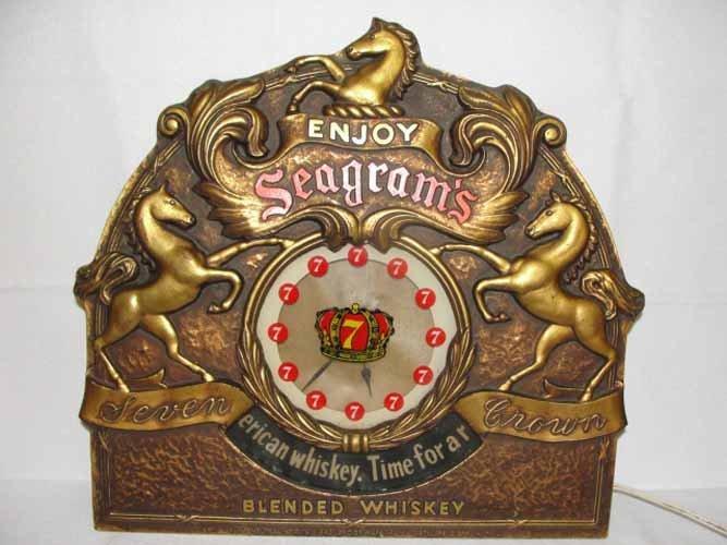 3: Seagram's Seven Blended Whiskey Clock