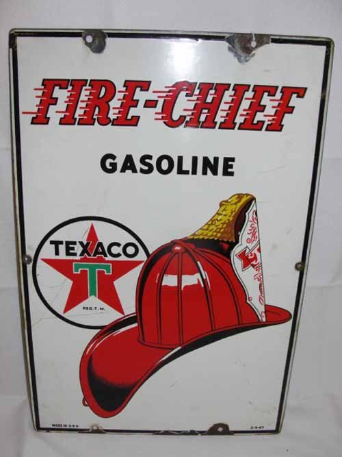 6: Fire Chief Pump Sign