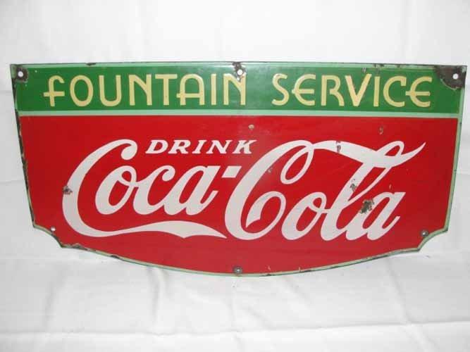 15: 1935 Coca Cola Fountain Sign