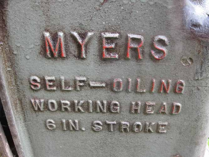 306: Myers Self Oiling Working Head - 8