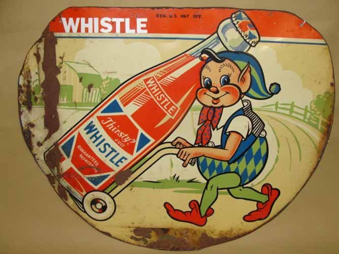7: Whistle Soda Sign with Elf