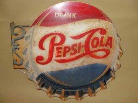 11: Pepsi Cola Cap Flange Sign