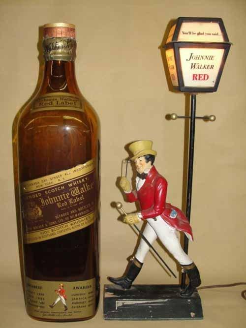 12: Johnny Walker Red Lamp & Bottle