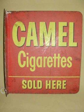 13: Tin Camel Cigarette Flange Sign