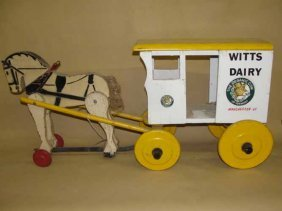 14: Witts Dairy Wooden Horse & Wagon