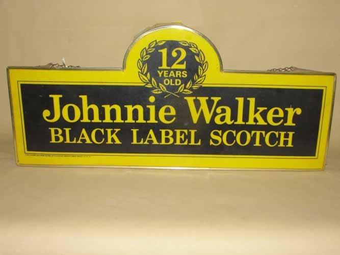 18: Johnny Walker Black Label Scotch Sign
