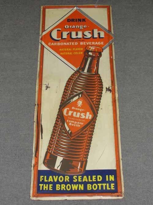 20: Drink Orange Crush Sign Dated 1941