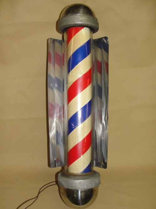 23: Wall Hanging Barber Shop Pole