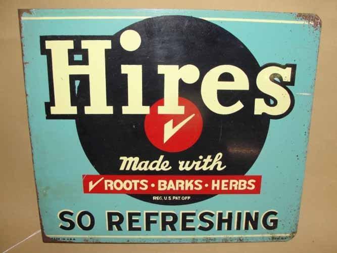 24: Hires Root Beer Flange Sign
