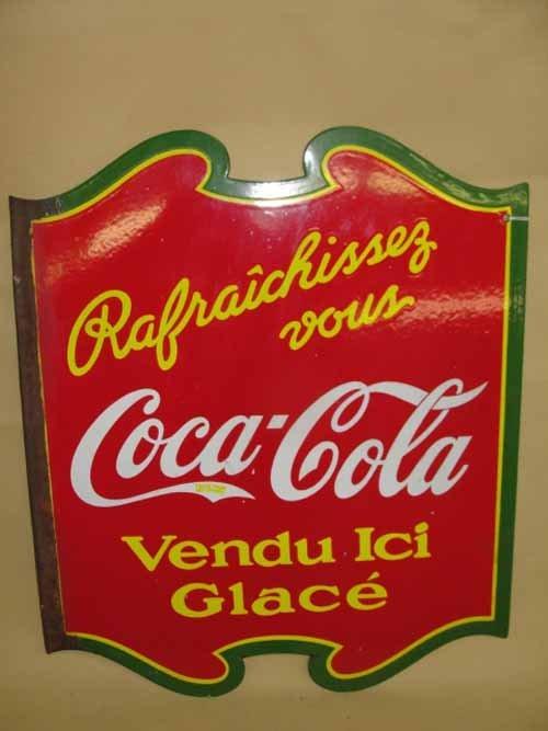25: Coca Cola Porcelain Shield Sign