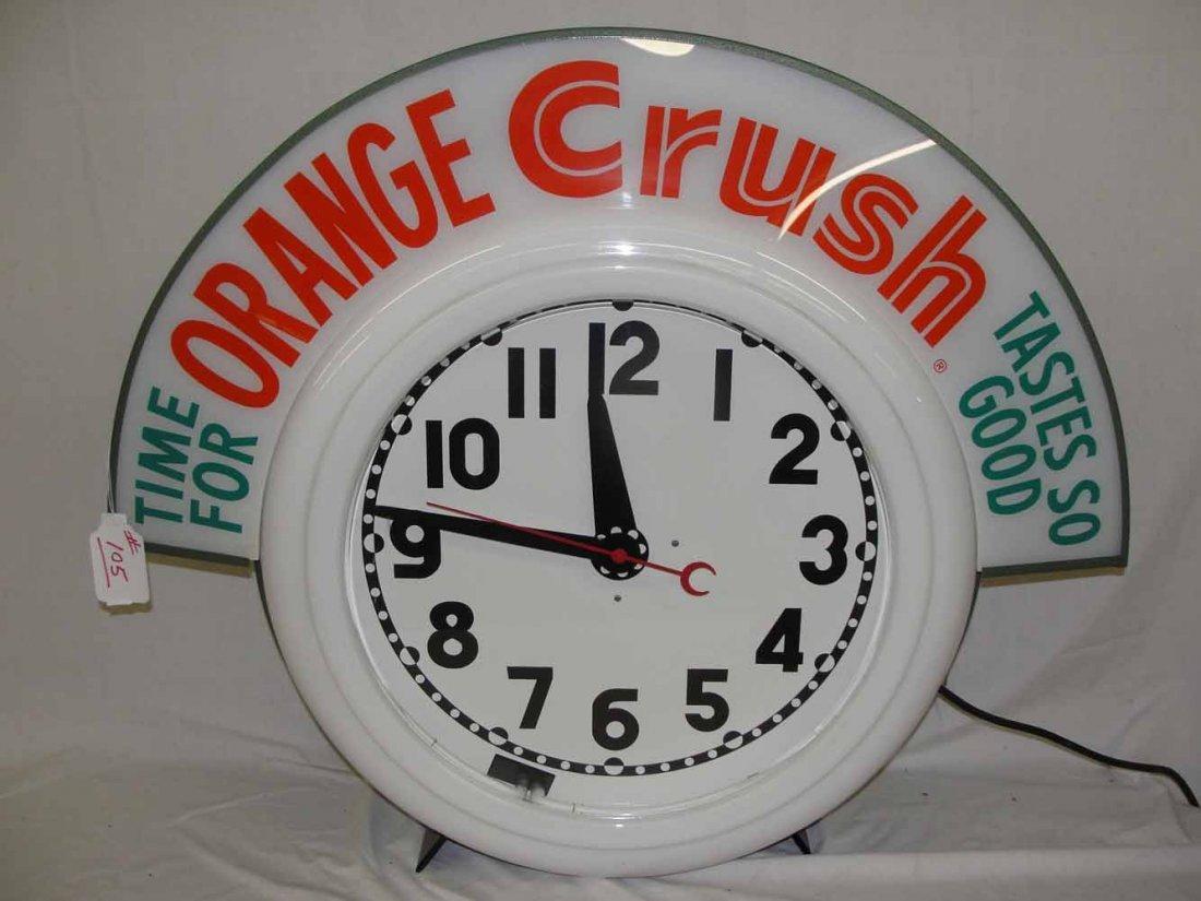105: Orange Crush Neon Contemporary Clock