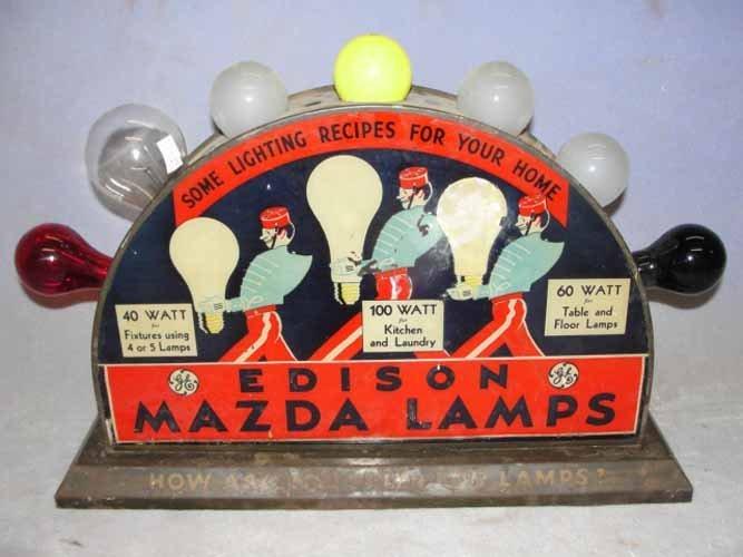 221: Edison Mazda Lamp Display