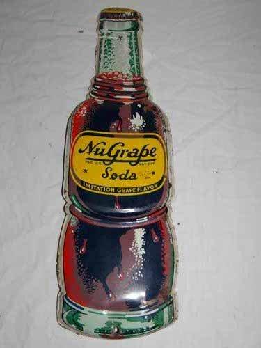 Nu Grape Bottle Sign