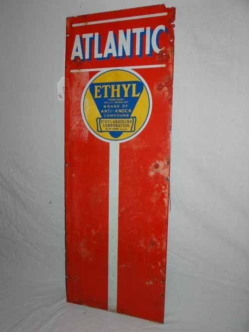 Atlantic Ethyl Gas Pump Front Sign