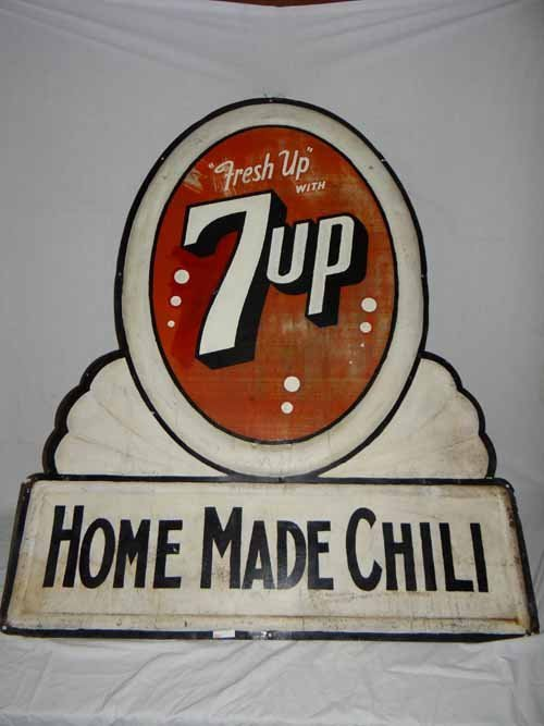 """7-Up """"Home Made Chili"""" Sign"""