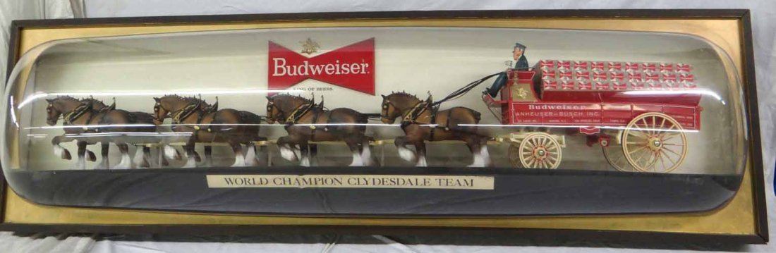 Budweiser Clydesdales & Wagon Light Up Sign