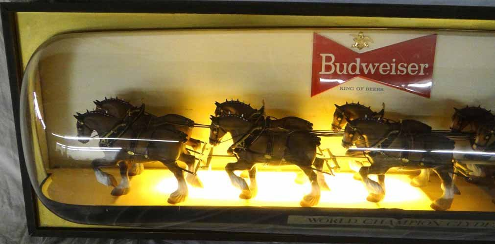 Budweiser Clydesdales & Wagon Light Up Sign - 3
