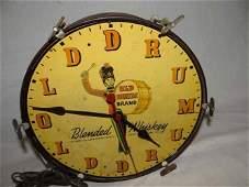 Old Drum Brand Clock
