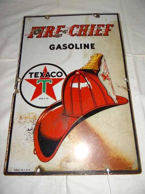 Texaco Fire Chief  Pump Sign