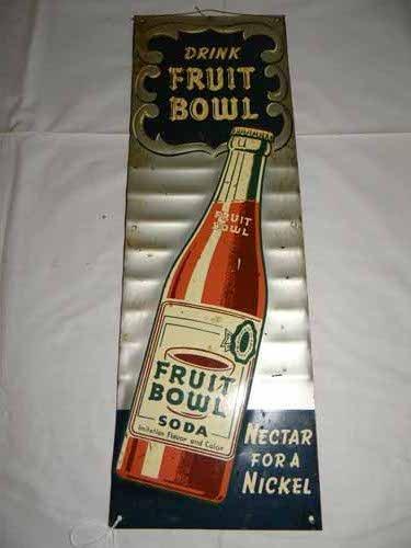 """""""Drink  Fruit Bowl"""" Sign"""