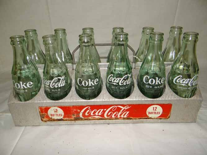 Coca Cola Carrier with Bottles