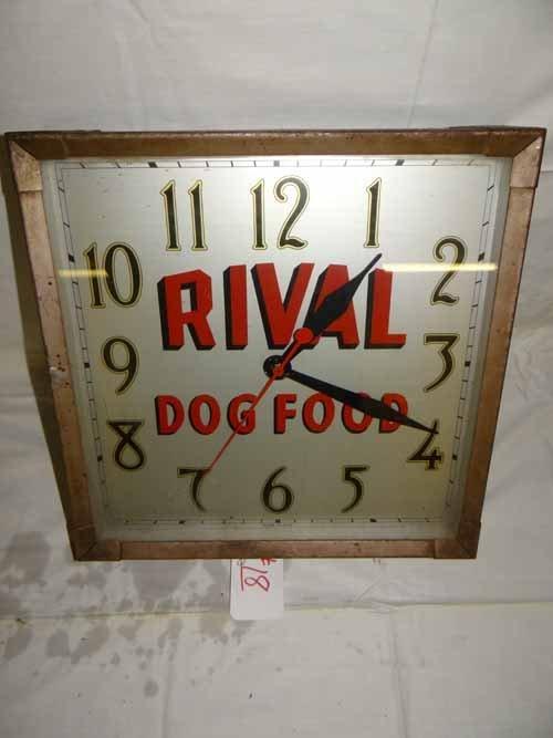 Rival Dog Fllod Clock