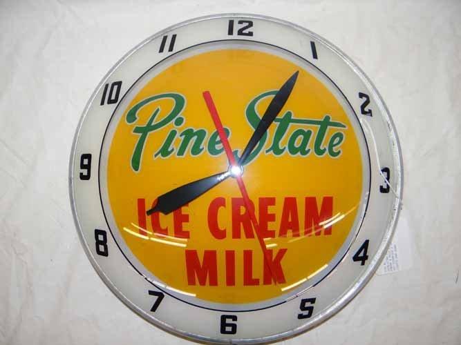 Pine State Ice Cream & Milk Clock